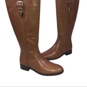 Coach Women's Easton Dark Saddle Boots Size 8